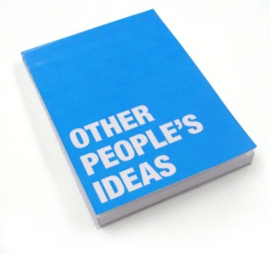"""Other People's Ideas"" notebook designed by Matt Haigh"